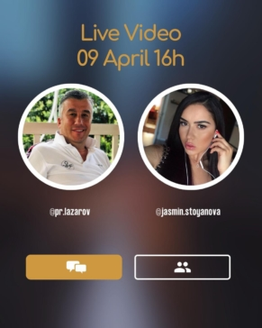 PR Lazarov - LIVE в 16:00 на 09.04.2020